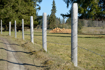 Zaun im Ostallgäu