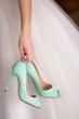 canvas print picture - Chaussures de la mariée