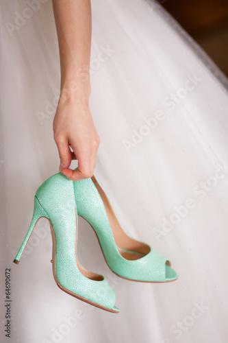 canvas print picture Chaussures de la mariée