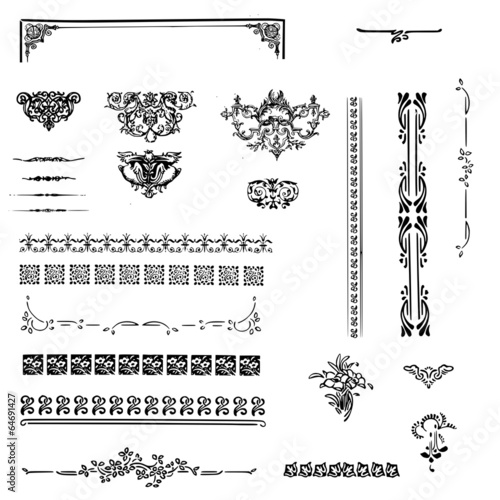 arabesques, séparateurs et cadres vintage - 64691427