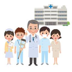 医師と病院スタッフ