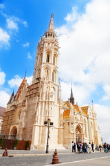 Matthias Church in Fisherman's Bastion, summer