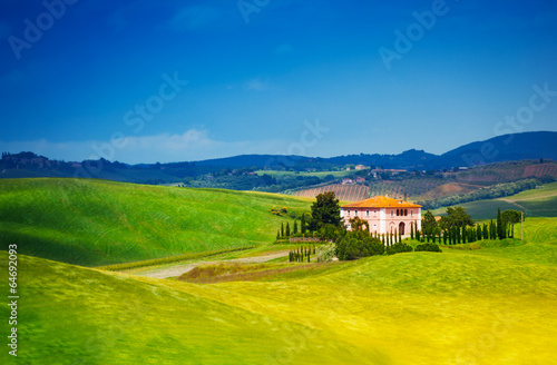 Beautiful house in Tuscany landscape, Italy - 64692093
