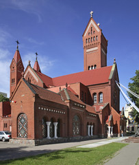 Church of Saints Simon and Helen (Red Church)in Minsk. Belarus