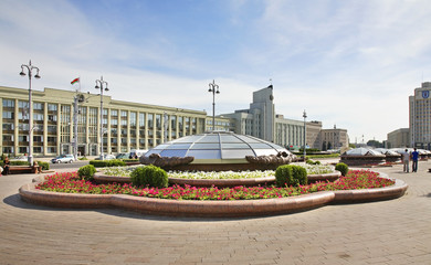 Independence Square in Minsk. Belarus