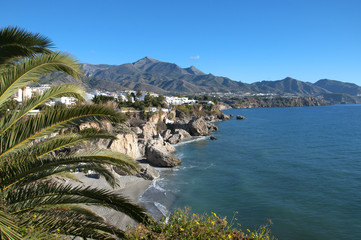 The sights of Nerja Andalucia Spain