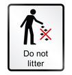 do not litter public information sign