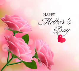 Holiday background with pink flowers. Mother's Day.