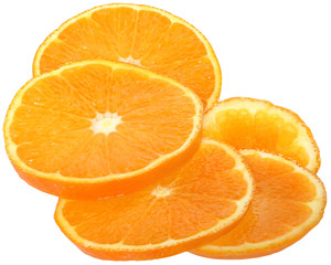 Sliced oranges heap