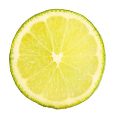 Lime close up isolated on white