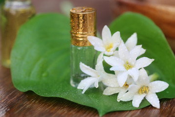 Tuberose or Rajnigandha of Southeast Asia with herbal extract