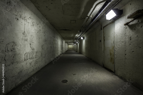 Empty tunnel at night - 64696833