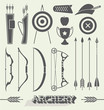 Vector Set: Archery Icons and Silhouettes - 64697284