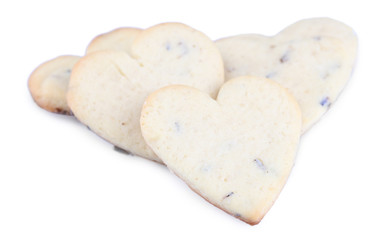 Lavender cookies isolated on white