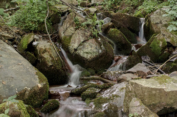 Small cascade on the mountain stream