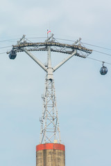 Cable cars from Singapore to Sentosa Island