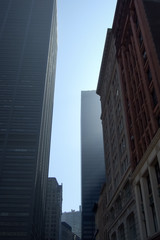 Low angle view of buildings, New York City, New York State, USA