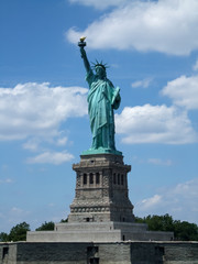 Low angle view of a statue, Statue of Liberty, Liberty Island, N