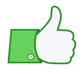 Green thumb up sign