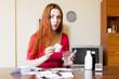 Woman brewing herbal tea