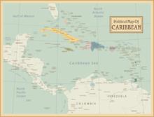 Map.Layers Caraïbes hautement détaillés utilisés.