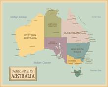 Australie-map.Layers très détaillés utilisés.