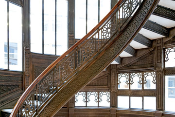Spiral staircase, Chicago, Cook County, Illinois, USA