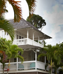 Low angle view of a house, Jamaica