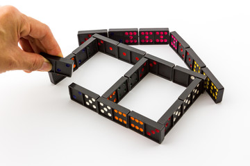 Dominoes in House Shape.