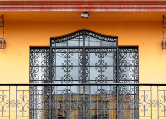 Wrought iron door of a house, Peru