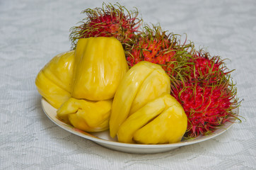 Jackfruit and  Rambutan
