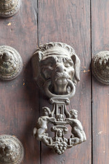 Door knocker of a cathedral, Cathedral of Lima, Lima, Peru