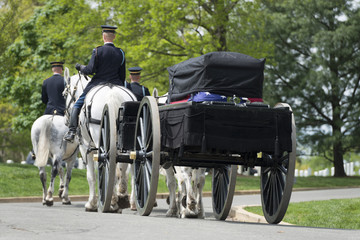 US Army marine funeral