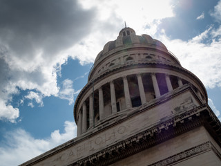 Low angle view of a government building, El Capitolio, Havana, C