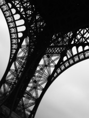 Low angle view of Eiffel Tower, Paris, France