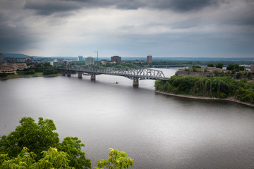 Bridge across a river, Alexandra Bridge, Ottawa River, Ottawa, O
