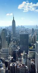 Skyscraper in a city, Empire State Building, Lower Manhattan, Ne