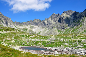 The High Tatras mountains and lake, Slovakia, Europe