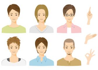 男性 表情 グループ