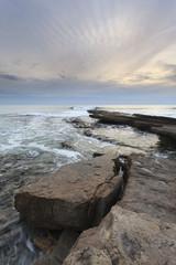 Vista vertical em Praia da ericeira