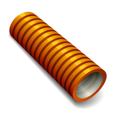 vector orange plumbing corrugated tube
