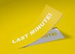 3D Etikett Gelb - Last Minute!
