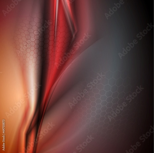 Concept modern red vector background