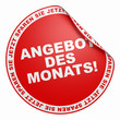 3D Aufkleber Rot - Angebot der Monats!