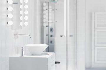 Waschbecken in einem modernen Bad