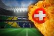 Fire surrounding switzerland flag football
