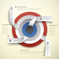 3d vector concentric and tag infographic elements