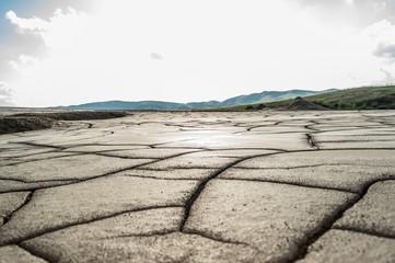 Dry cracked mud texture