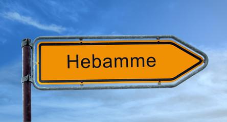 Strassenschild 8 - Hebamme