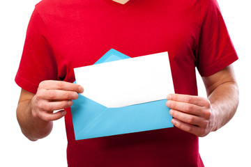 Blank card in envelope